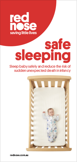 Fact Sheet Safe Sleeping Pamphlet Red Nose SIDS