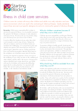 Fact Sheet Starting Blocks Illness in childcare services